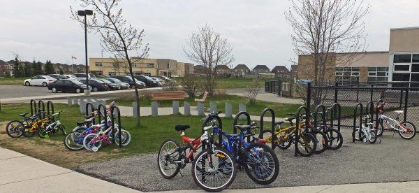Region of Peel Offers Free School Bicycle Parking!